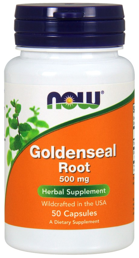 Now Foods Goldenseal Root 500 mg - 50 Capsules